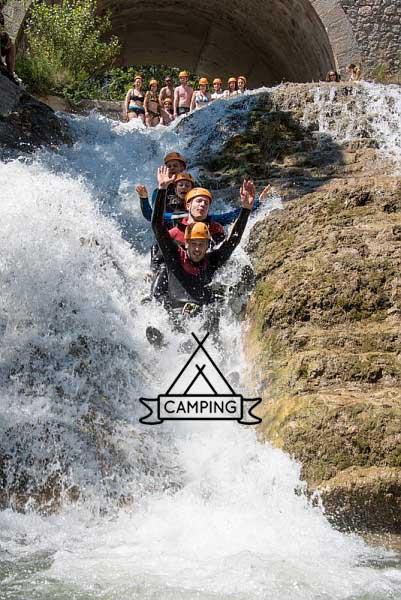 Verdon Canyoning Camping