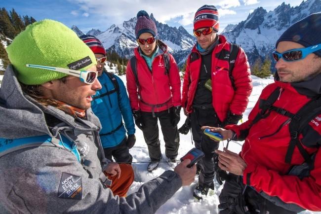 attrezzatura di sicurezza per scialpinismo