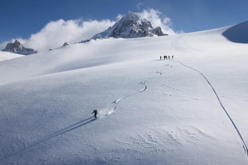 fuoripista area Grands Montets - Chamonix