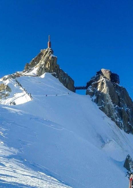 inizio fuoripista Valleè Blanche - lato Chamonix