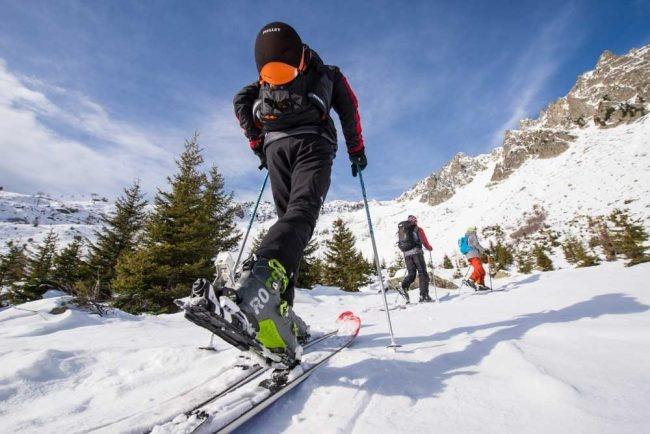 la risalita nello scialpinismo