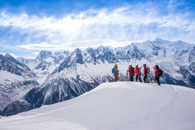 paesaggio accessibile con lo scialpinismo